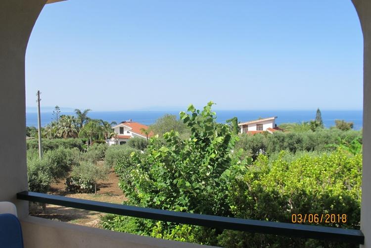 Balcony view towards Sicily