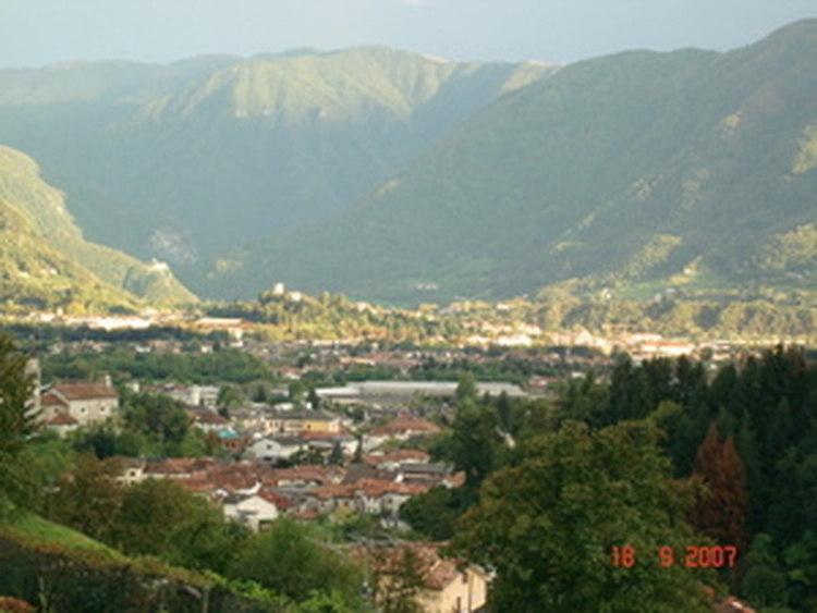 Panorama on Pedavena and Feltre