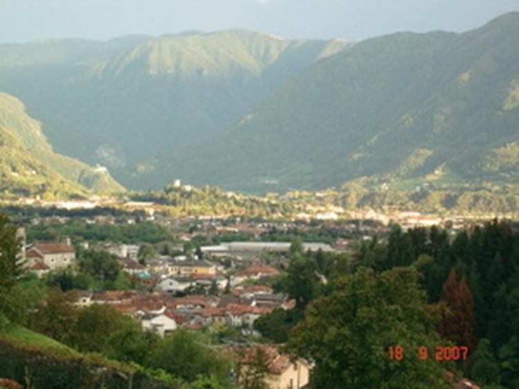 Panorama auf Pedavena und Feltre
