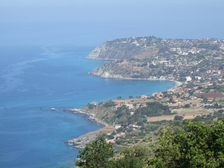 View from Monte Poro showing the Santa Maria beach and Capo Vaticano headland
