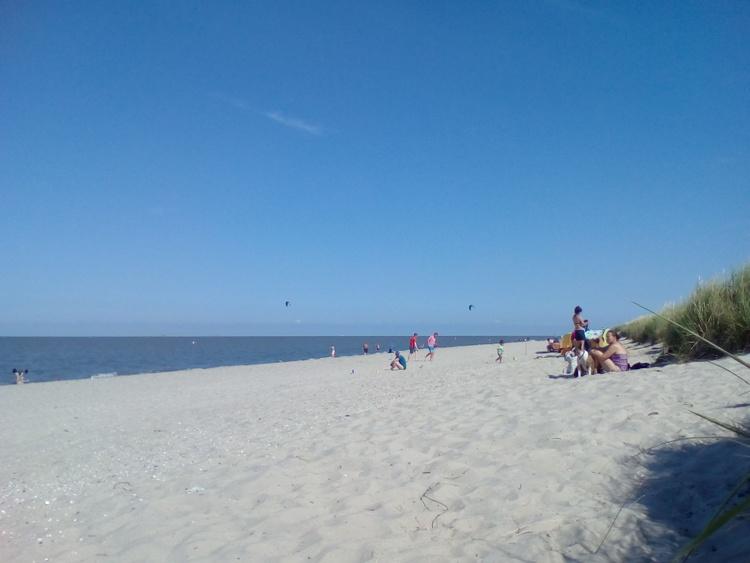 Strand 2000m vom Haus
