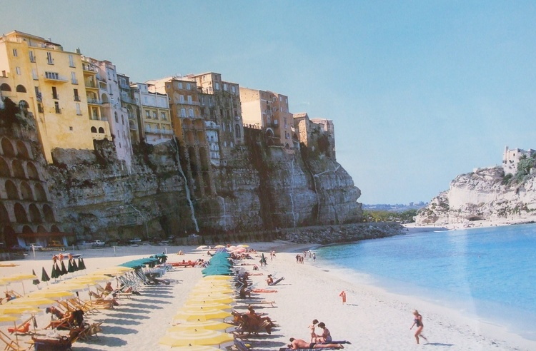 One of the beaches below the town of Tropea