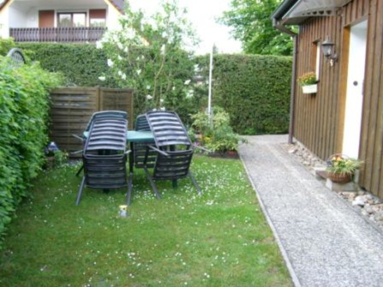 Garden view with outdoor seating