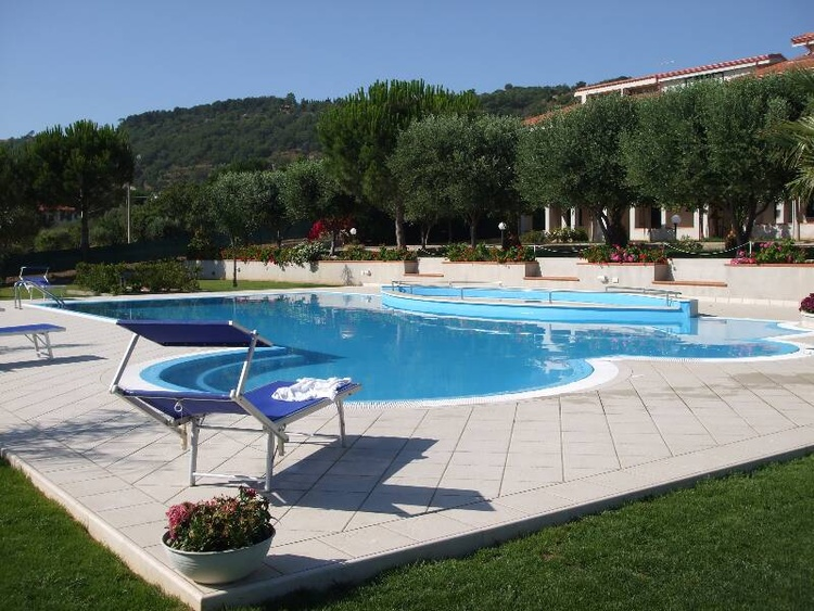Swimming pool showing jacuzzi and children's pool