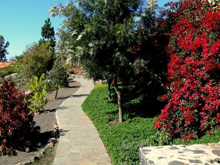 subtropische Gartenanlage