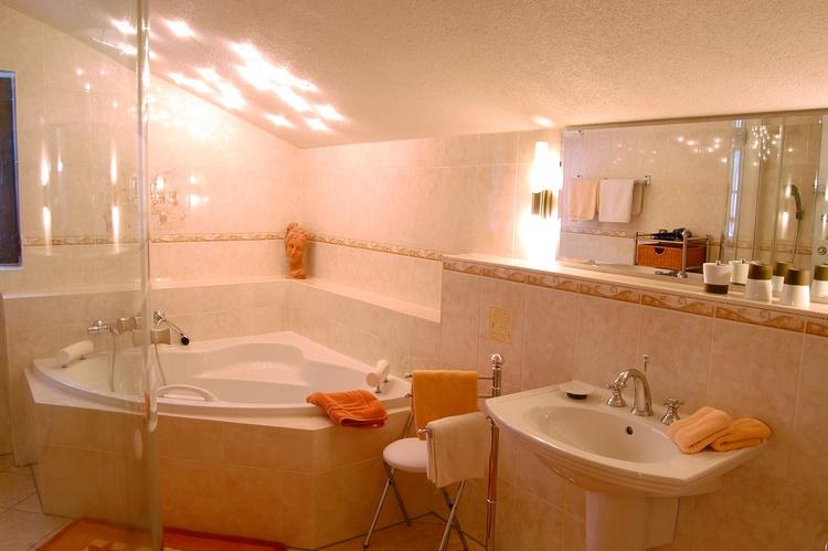 Bad vom Gästezimmer Bastei