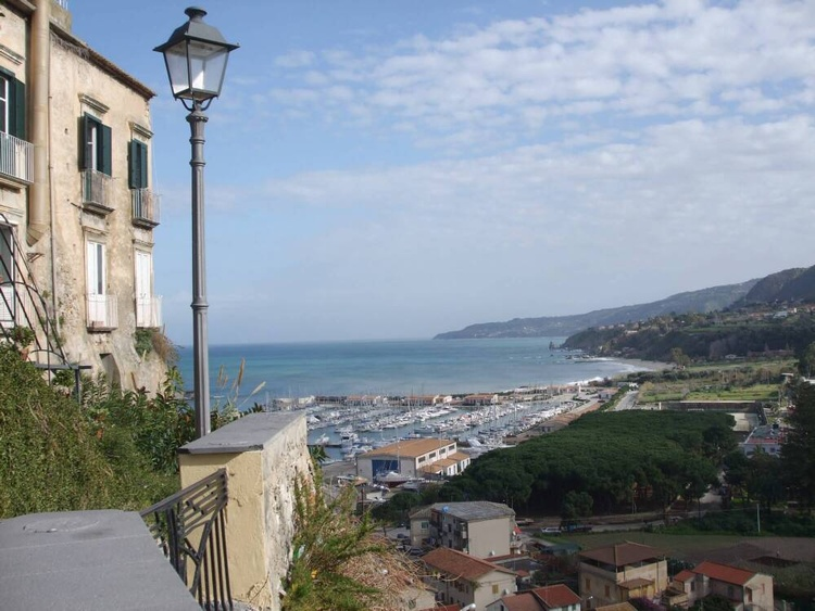 Tropea Harbour from behind the Cathedral