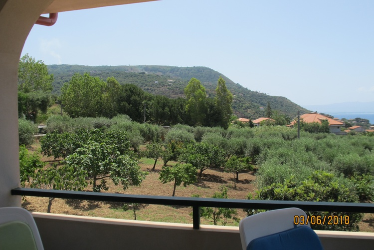 Balcony view of Monte Poro and the orchard