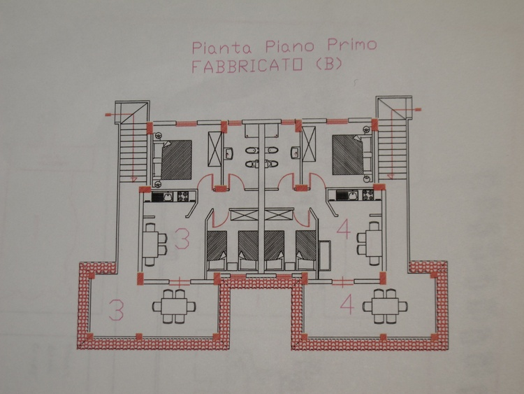 Plan of apartments 4A & B