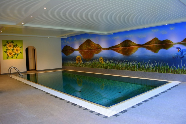 Swimming pool with sauna and infrared cabin