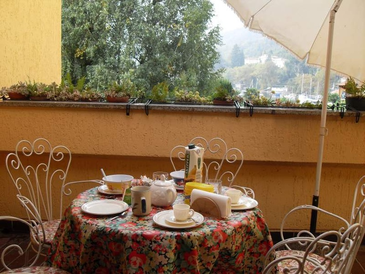 Terrace overlooking the lake (where you can catch delicious meal in the evening)