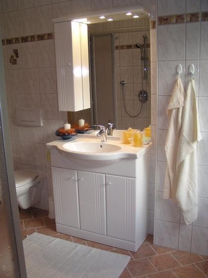 Bad der 45m² Wohnung