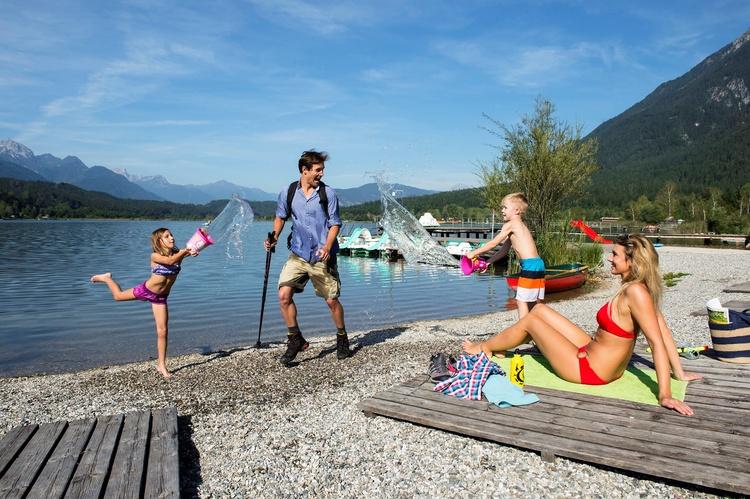 Badeurlaub Erholung und Spaß für die ganze Familie Österreich Kärnten Nassfeld Pressegger See