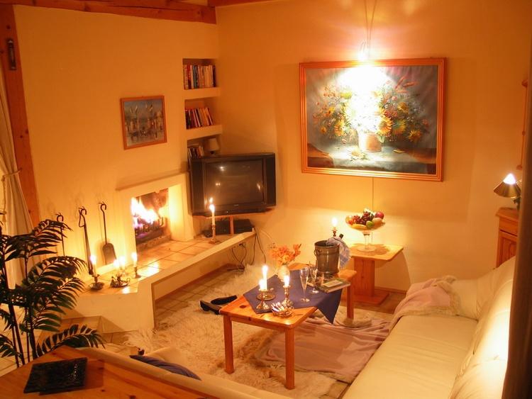 Wohnzimmer am Abend