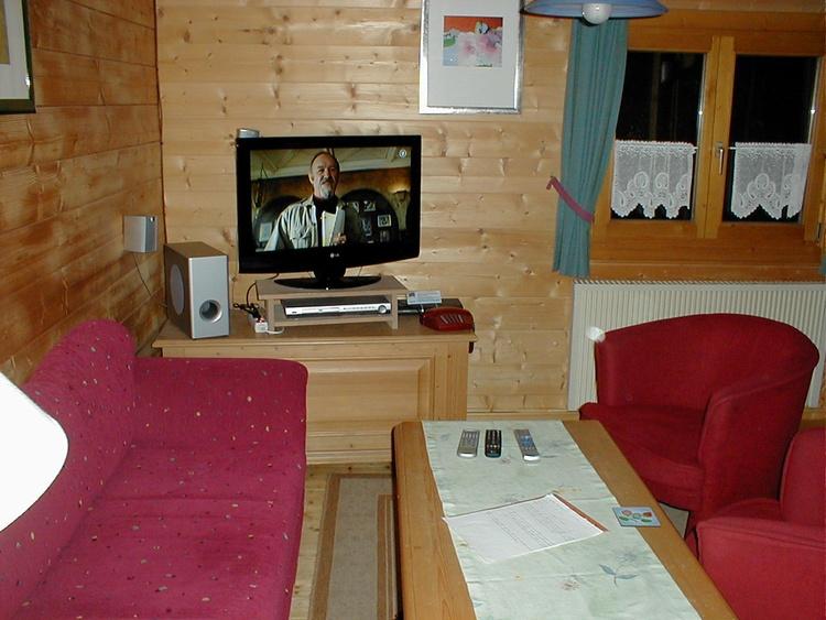 Wohnzimmer Oekoferienhaus 8