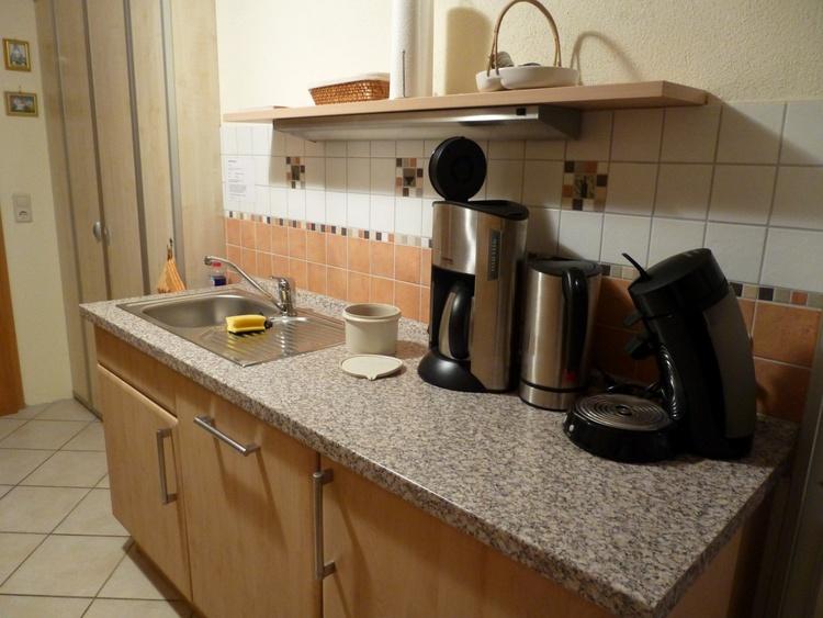 separate Küche sehr gut ausgestattet